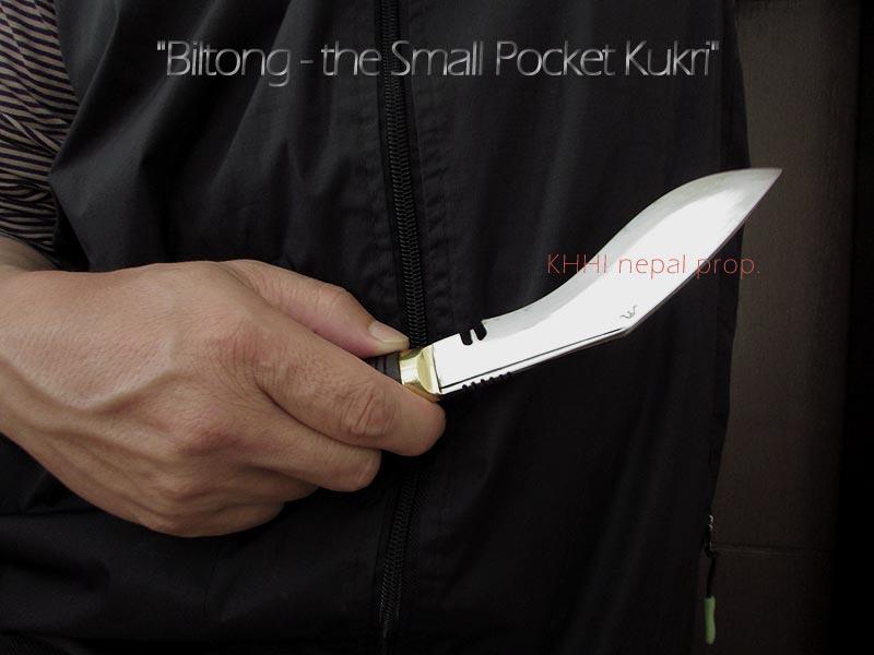 Biltong, a perfect pocket kukri knife