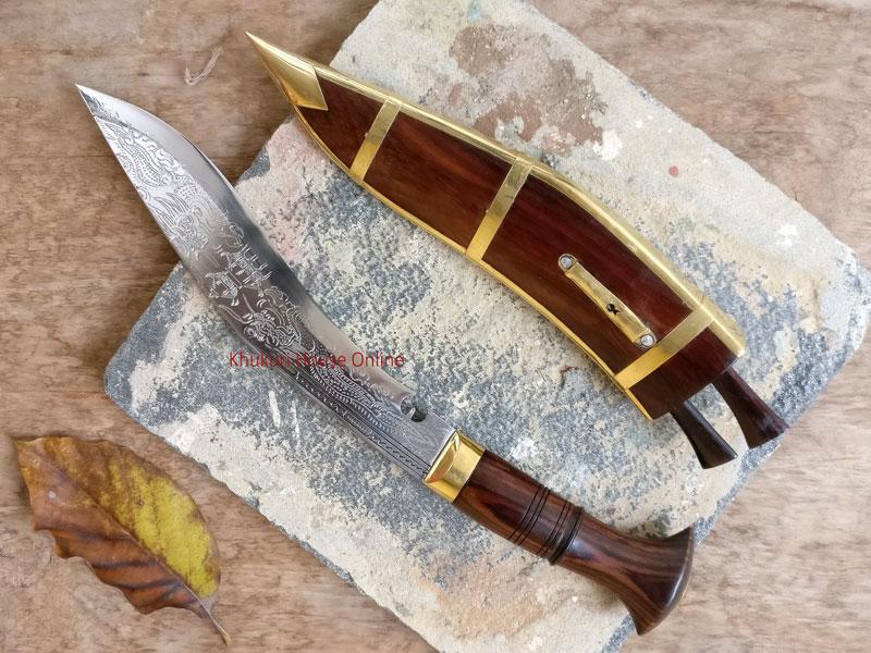 dhankute khukuri with dragon engraved blade