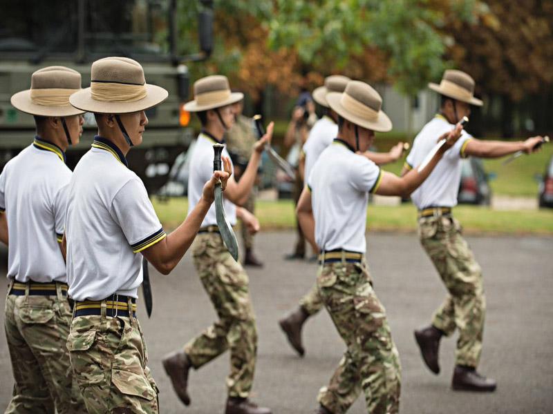 kukri training of gurkha army