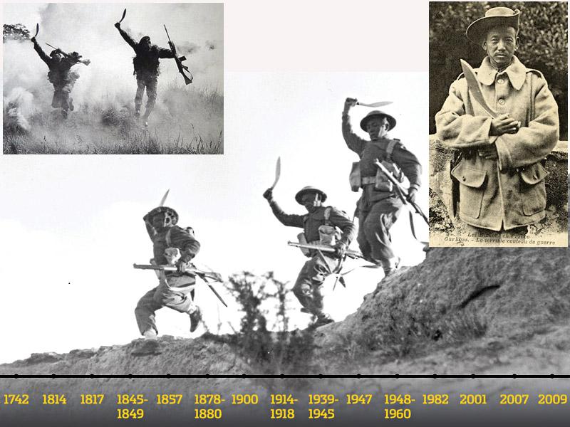 Gorkhas with Khukuri in-action