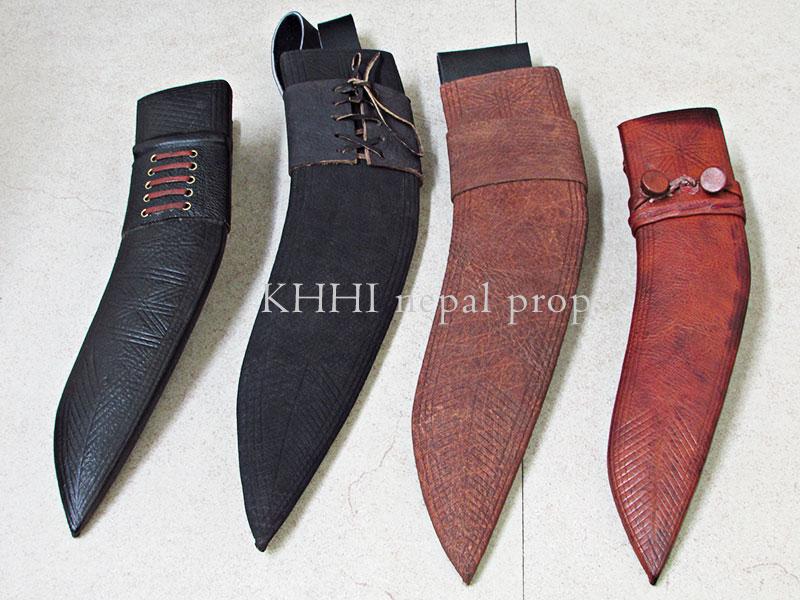 rare treated leather kukri knife sheath