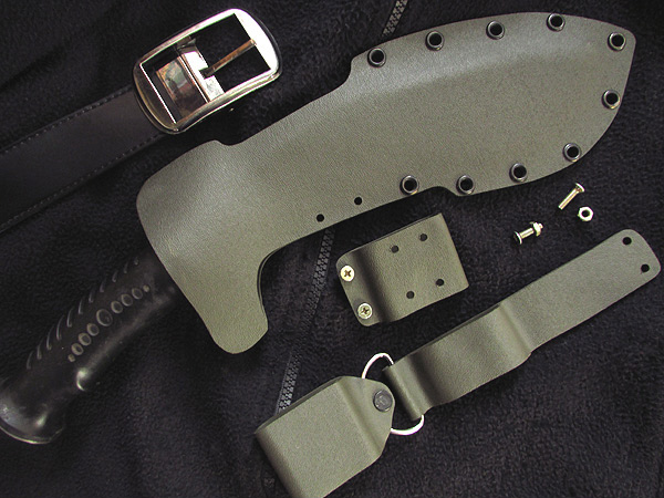 Army green (Olive drab) kydex sheath