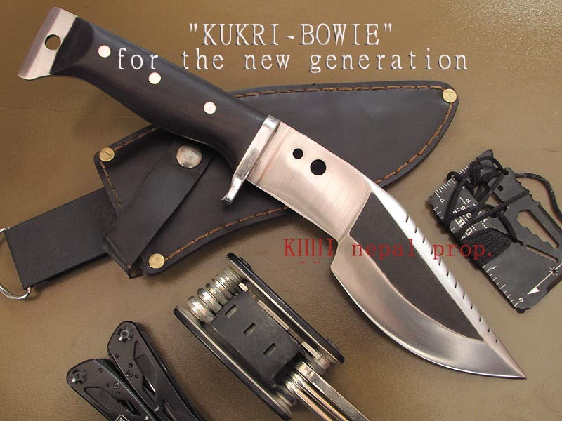 modern multipurpose Kukri-Bowie knife