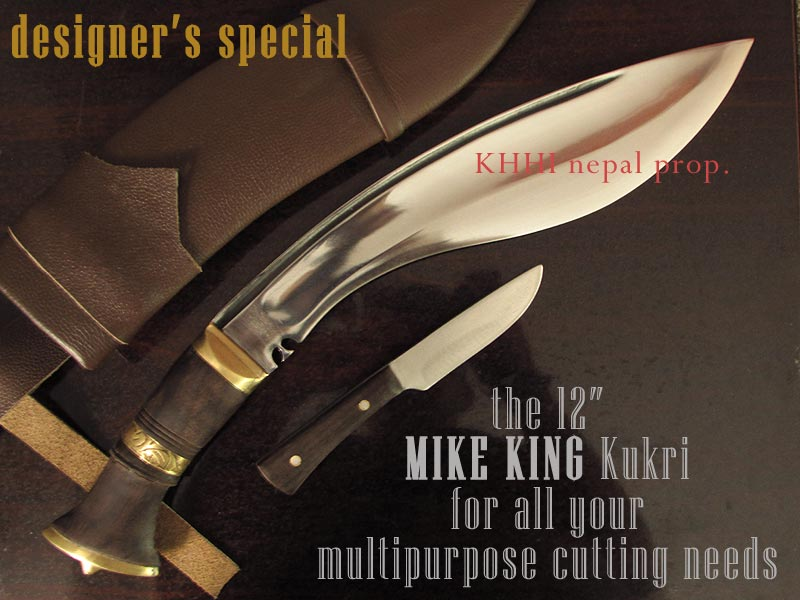 the Mike King kukri comes with its own special b-up knife