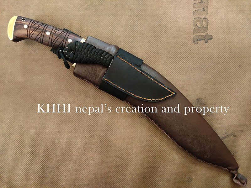 full view of both blades insides its respective sheath; Kali-Astra