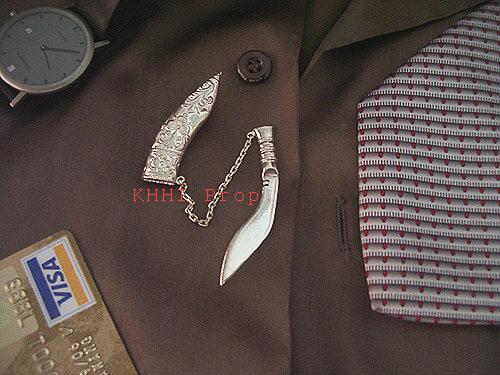 Khukuri Silver Tiepin (Gurkha Icon)