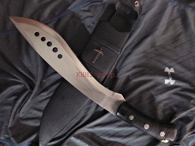 52100 Full-Tang Machete Kukri (Eli)