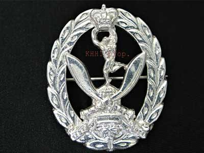 QGS Silver Brooch (Queen's Gurkha Signal)