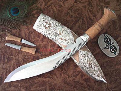 Traditional White Silver Scabbard Khukuri