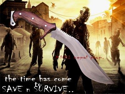 The Scourge Kukri (Zombie Apocalyptic Knife)
