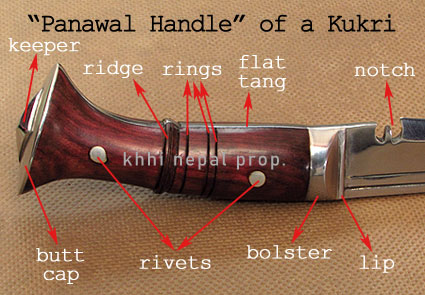 full tang panawal kukri handle