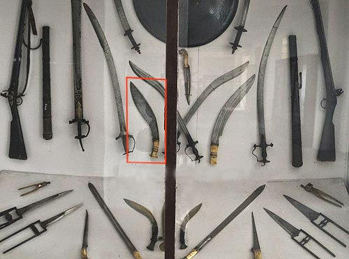 weapons of King Prithvi, Chauni Museum (Nepal)